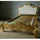 French Furniture Bedroom of gold leaf Bed french style