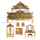 French Furniture Bed of Gold French bedroom Indonesia