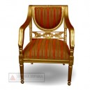 Indonesia Furniture of Gold Arm Chair